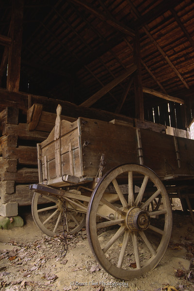 S.3127 - old wagon in barn, Cades Cove, Great Smoky Mountains National Park, TN.