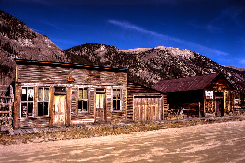 Ghost Town and Mountains