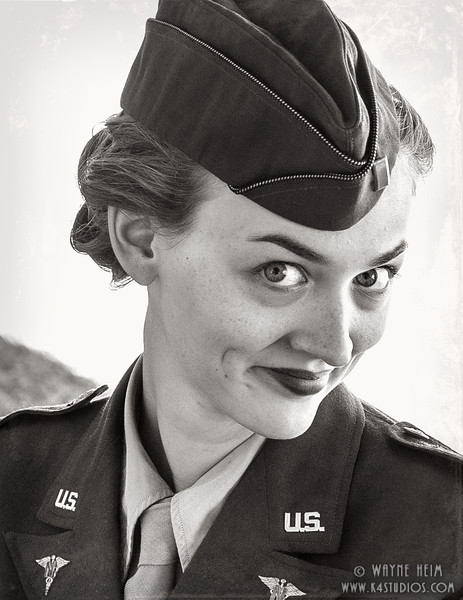 Army Gal     Photography by Wayne Heim