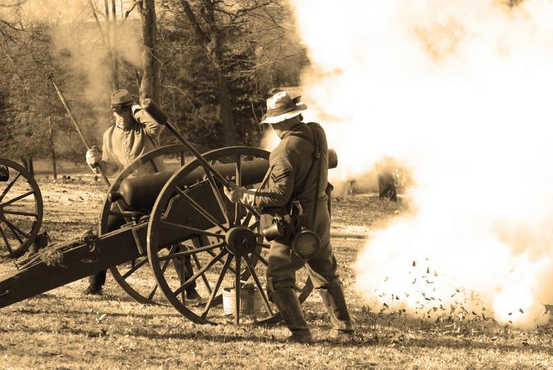 Confederate Artillery Fire