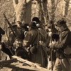 Union Troop advance scouting party prepares for combat