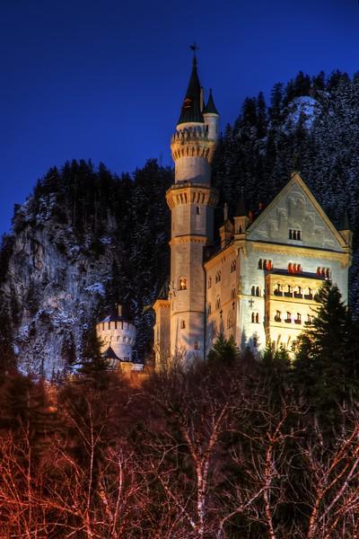 Castle Neuschwanstein in the Blue