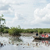 Passing a sister airboat