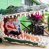 Boni & Mercedes in the crocodile's mouth!