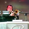 Ian on trombone leads the Regent's band