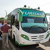 Boarding our tour bus