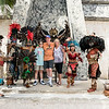 Photo with 'Mayan' street performers