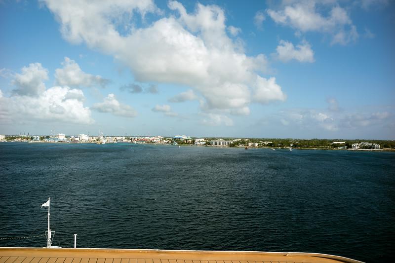 Approaching Grand Cayman - January 2, 2017