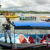 Our boat taking us onto Lake Izabal