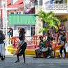 Street dancers entertain