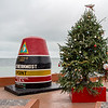 Southernmost Point marker with Christmas tree