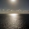 Approaching sunset at sea - January 2