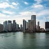 View of the Miami skyline from our ship
