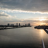 Sunrise back in Miami prior to disembarking the ship - January 4