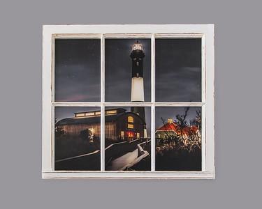Fire Island Lighthouse Smoke Resin Window