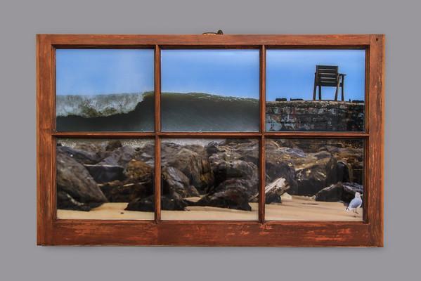 Joaquin Chair Brown Wood Resin Window