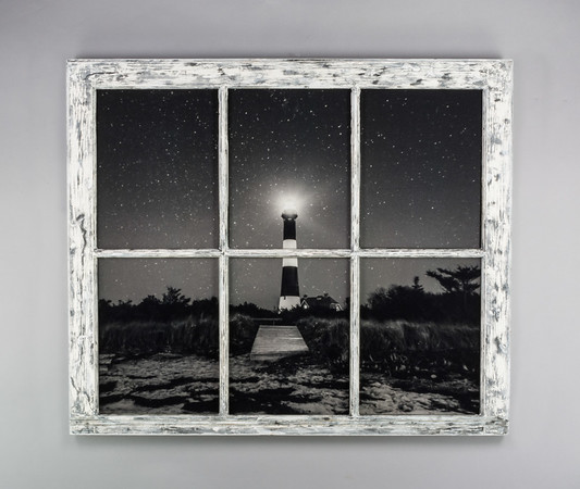 Fire Island Light House Night Window
