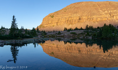 Morning reflection in Lambert Meadows.