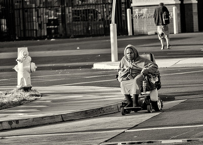 The Street - Homeless women crossing the street -18