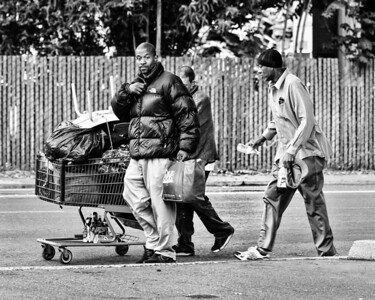 The Street - Homeless people walking - 8124