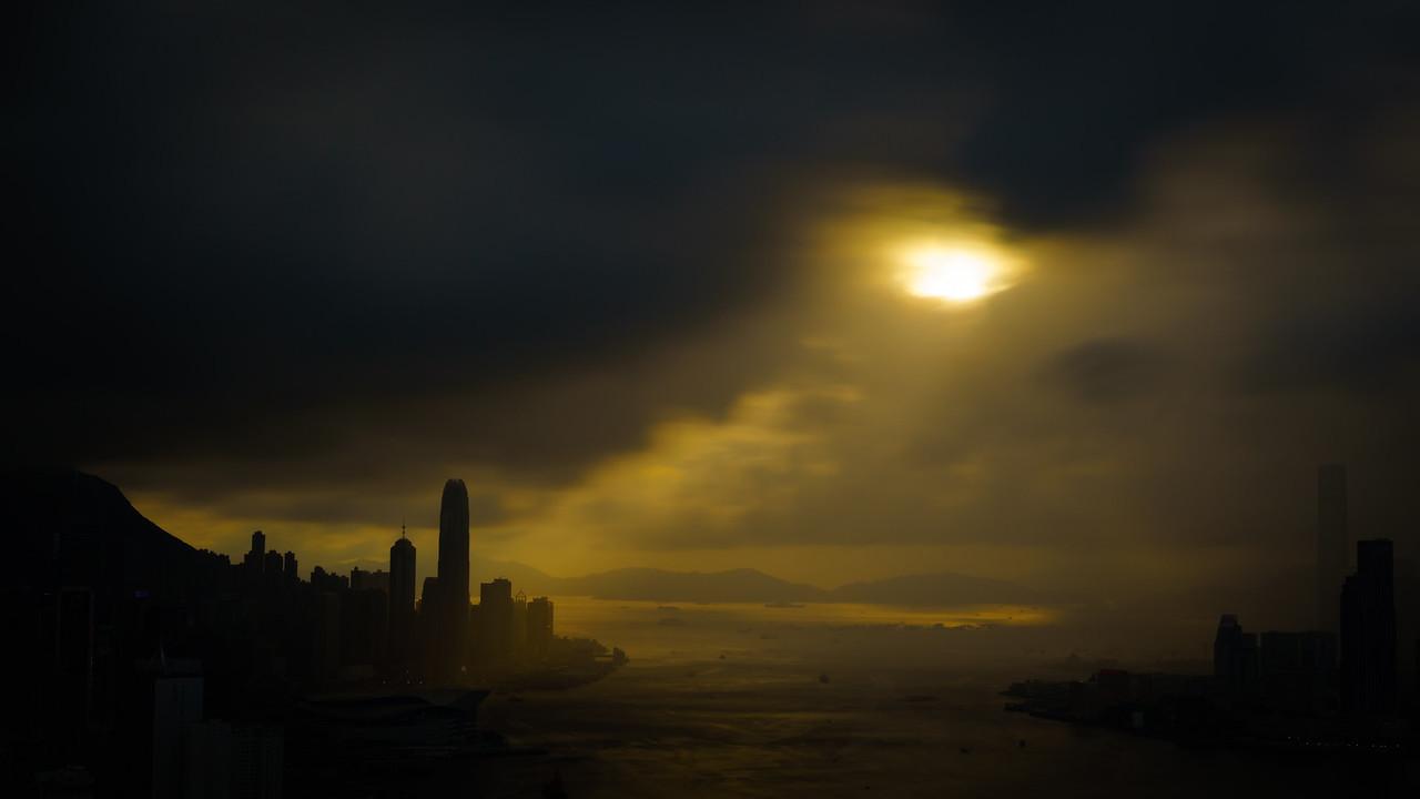 Hong Kong Skyline Silhouette