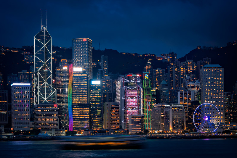 A blue Hong Kong Evening