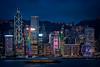 A blue Hong Kong Evening