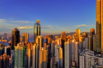 Golden Concrete, Sunset on Hong Kong Island Mid-Levels