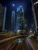 IFC Towers in Moonlight