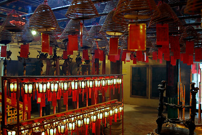 Man Mo Temple Interior, Hong Kong