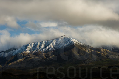 Cloudy California Mountains 009 | Wall Art Resource
