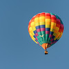 A colofrul balloon taking off at the Hughesville, PA Balloon Fest on September 15, 2018.