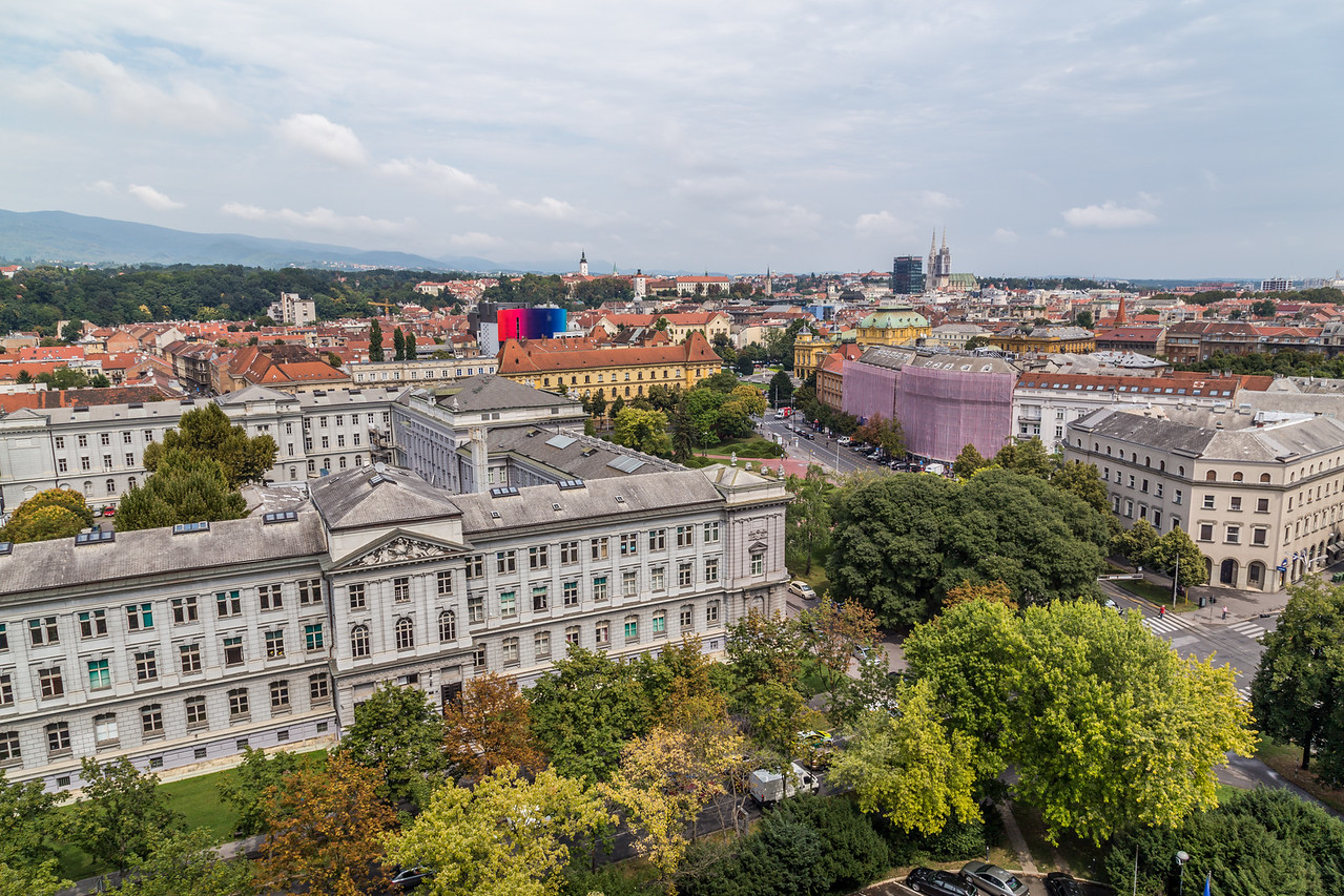 View of Zagreb from the Westin Hotel