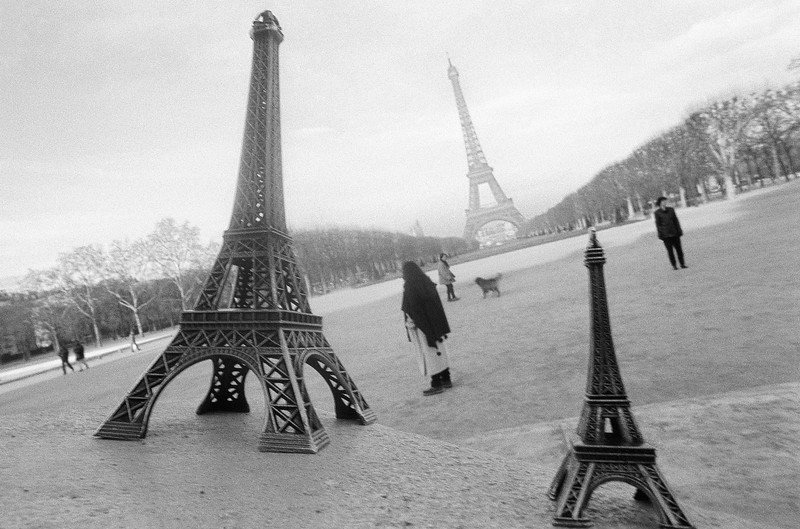 Three Eiffel Towers