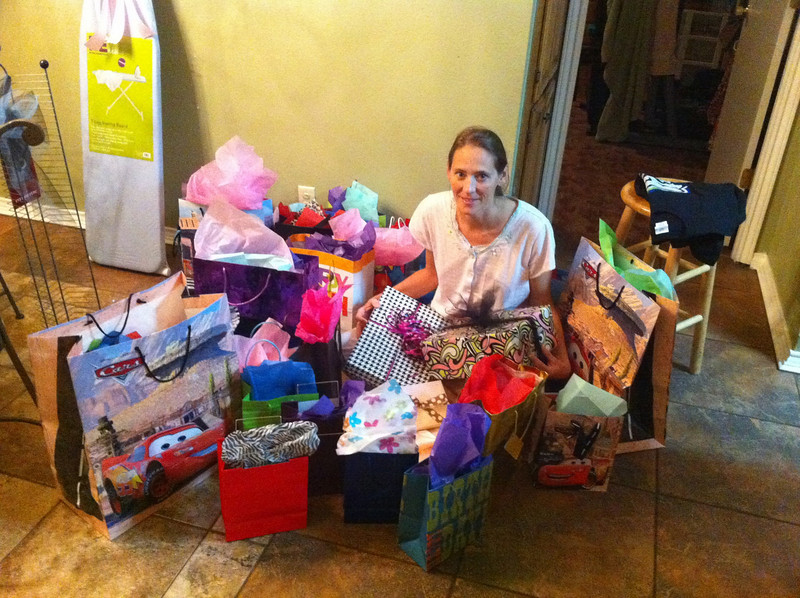 Me and the kids gave Brandi 40 presents this year. Can u guess how old she is?