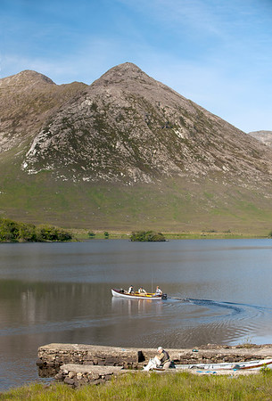 Lough Inagh - Some of Ireland's most stunning scenery.Fly fishing on Lough Inagh, Connemara, Ireland for sea trout and salmon