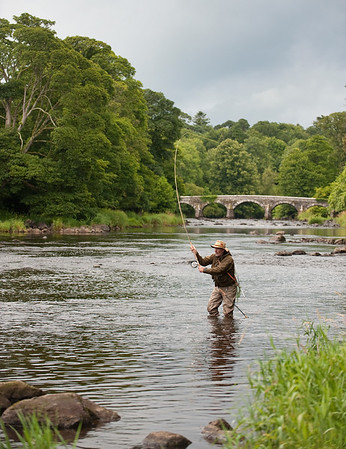 River Maine - Beautiful Irish fly fishing landscape on River Maine at Shane's Castle, Co. Antrim, N Ireland
