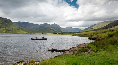 Tawnyard Lough on Erriff Fishery, Co Connemara, Ireland - fishing for salmon and sea trout.