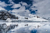 Antarctica Mountain Landscape with Reflection