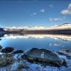 Mountain Reflection in Berufjöròur<br /> GPS 64.7466,  -14.4444