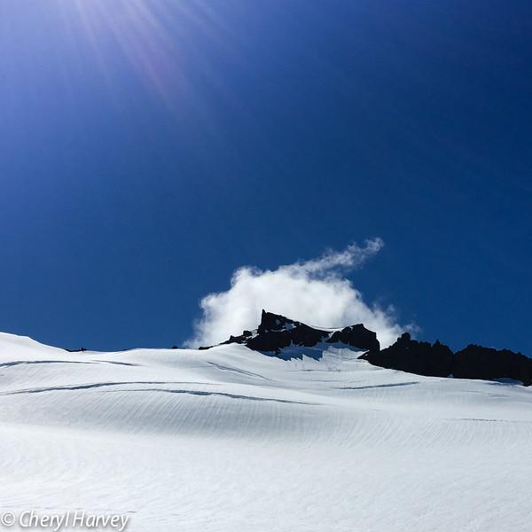 Sun on Vatnajökull Glacier