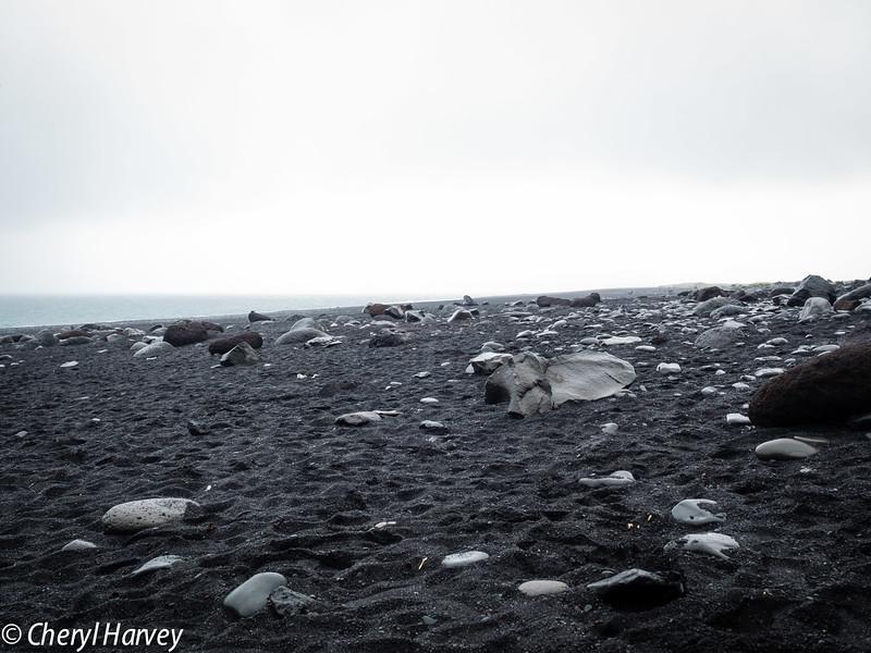 Stones on Reynisfjara Beach