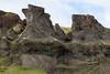 Basaltic rock along the upper ridge of the Þverárfjall (mountain).