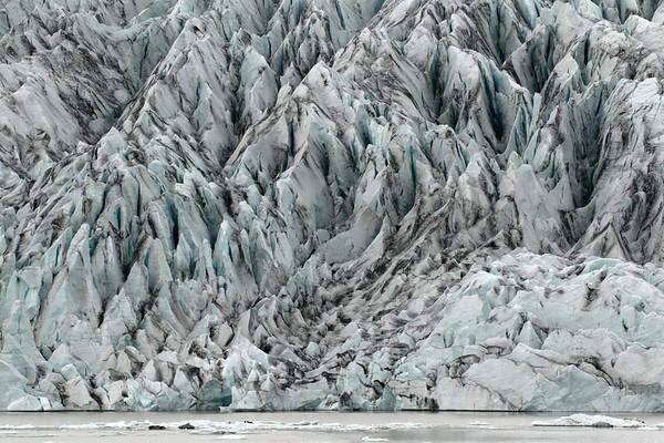 Fjallsjökull (Mountain Glacier) - with its terminus snout flowing and calving into the Fjallssárlón (lagoon) - Vatnajökull National Park - Eastern region of Iceland.