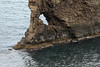 Volcanic rock sea arch upon the  - during ebb tide, esposing some of the halophytic algae along the westernmost water of the Norwegian Sea.