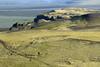 Hjörleifshöfði (headland), along its western slopes and ridges - down to Mýrdalssandur glacial outwash plain, along the Múlakvísl (river).