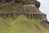 Jointed columnar basalt rock along the easterh most slope of the Þverárfjall (mountain).