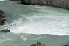Over the crest of the Geitafoss (waterfall), which drops about 18 ft. (5.5 m) - along the Skjálfandafljót River.