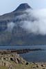Vattarnestangi (point) - mouth of  the Reyðarfjörður (fjord) - Snæfugl (peak).