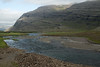 Fossá (river) flowing along the Fossárdalur (valley), adjacent the Bæjarfjall (mountain).